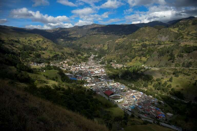 A view of Cerrito, in Colombia, where the wounded Andean condors were found