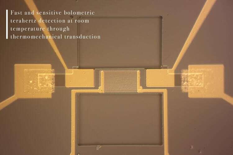 Balancing the beam: Thermomechanical micromachine detects terahertz radiation
