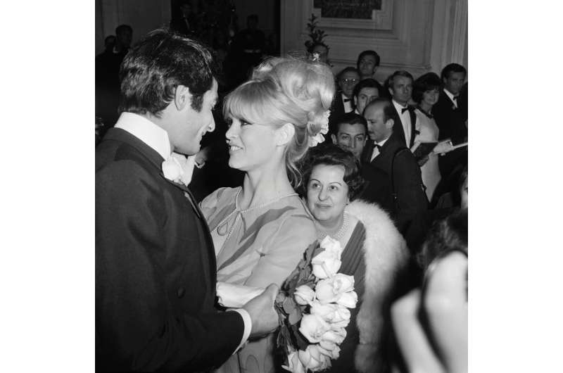 "Brigitte Bardot, seen in Paris in 1966, dubbed the landing a ""miracle"""
