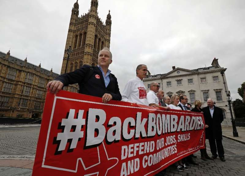 """British trade union Unite said the deal """"offers hope"""" for Bombardier workers in Northern Ireland"""