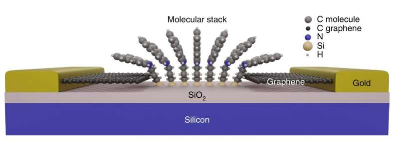 Catch-22 in graphene based molecular devices resolved