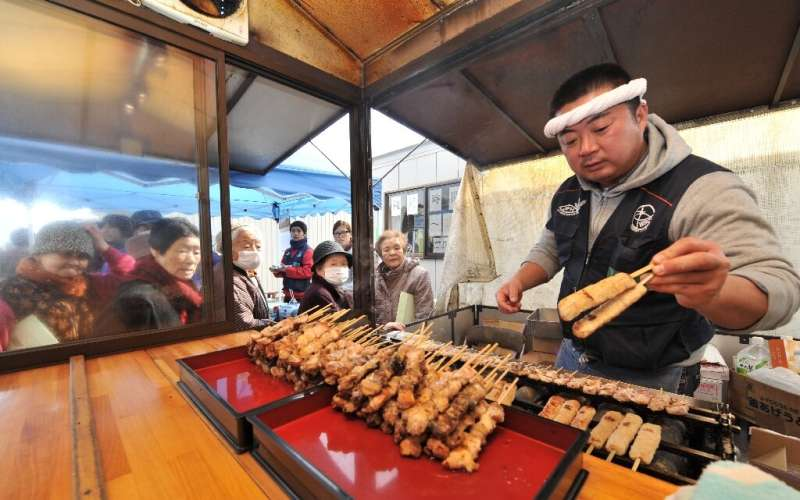 Chicken yakitori is one of the most popular fast foods in Japan