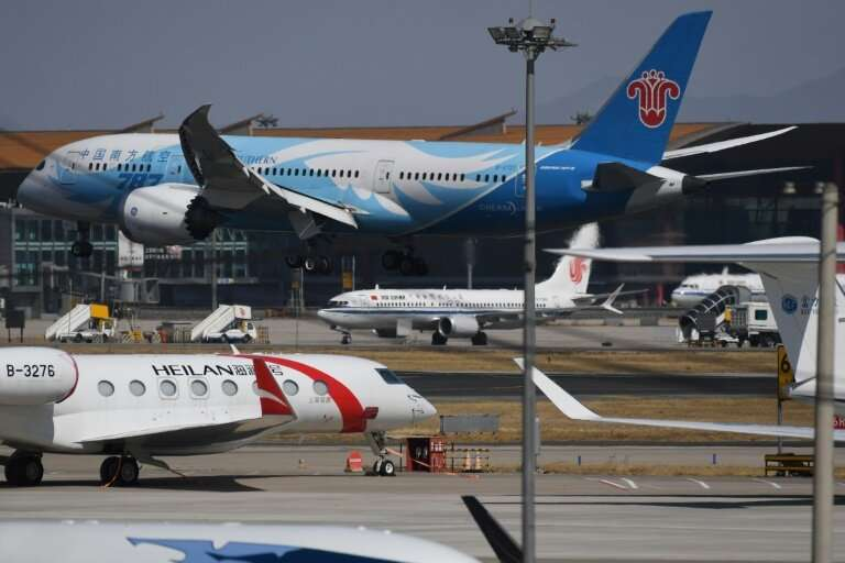China has grounded its 7373 Max 8 (c) since the crash of a second Boeing jet in Ethiopia March 10, 2019