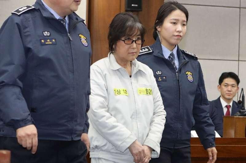 Choi Soon-Sil, the jailed confidante of disgraced South Korean president Park Geun-Hye, during her  2017 trial