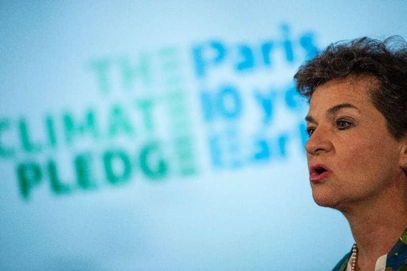 """Christiana Figueres, Former UN climate chief, joined Amazon founder and CEO Jeff Bezos in announcing a """"Climate Pledge&quot"""