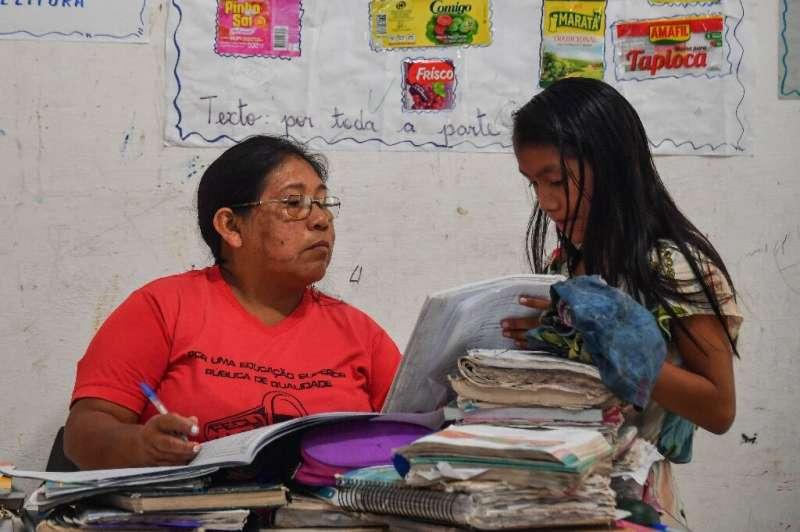 Claudeth Gabriel Sau Munduruku  has worked as a teacher for 17 years