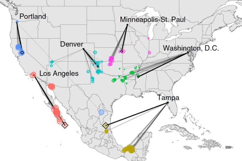 Climate of North American cities will shift hundreds of miles in one generation