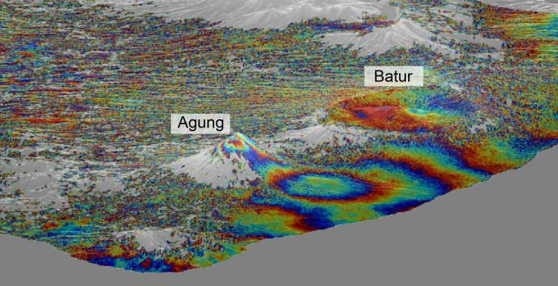 Copernicus Sentinel-1 reveals shared plumbing led to Agung awakening