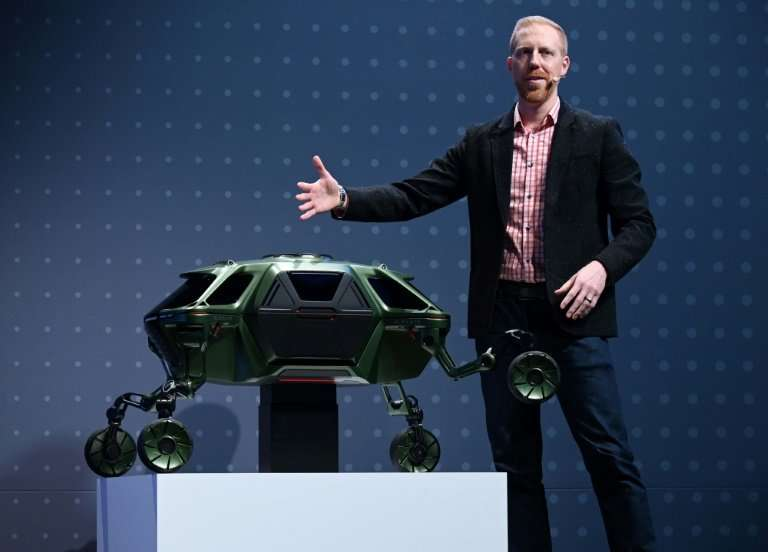 """David Byron, industrial design manager for Sundberg-Ferar, speaks about the Hyundai Elevate, an """"Ultimate Mobility"""" co"""