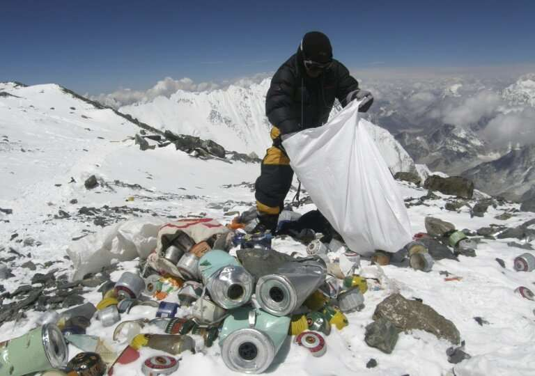 Decades of commercial mountaineering have turned Everest into the world's highest rubbish dump as an increasing number of big-sp