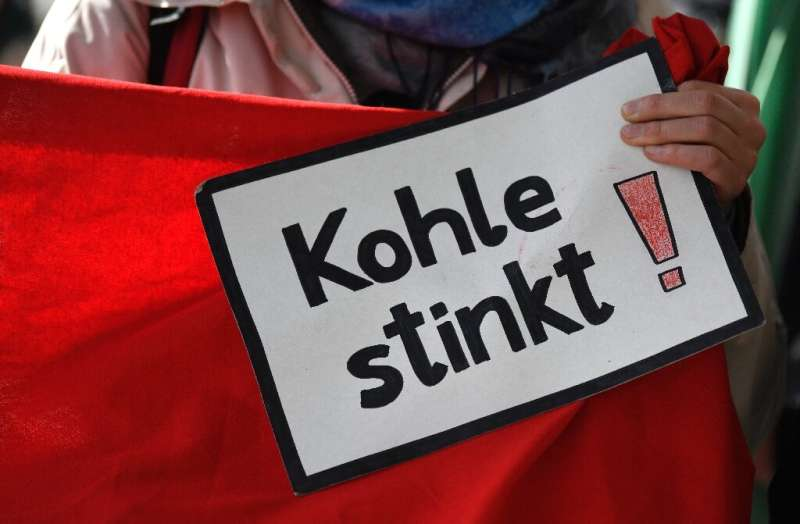 Demonstrators took their weekly climate protest to energy giant RWE