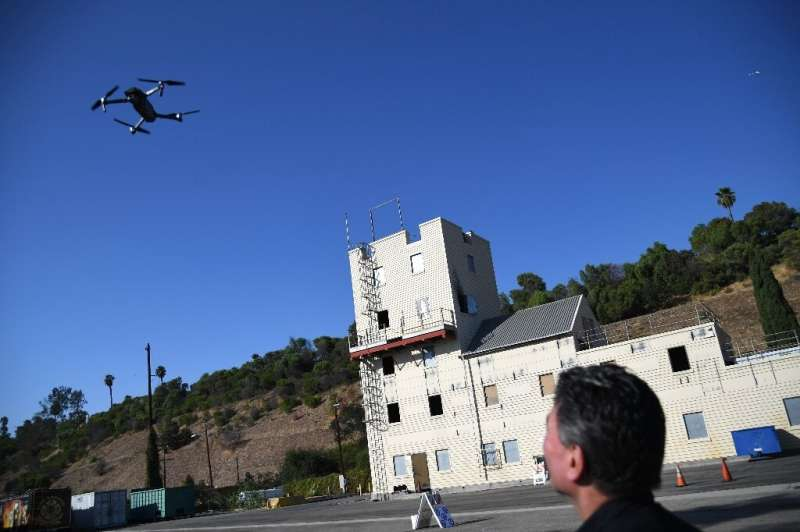 Drones, shown here at a Los Angeles Fire Department demonstration, have become a key tool for emergency response units