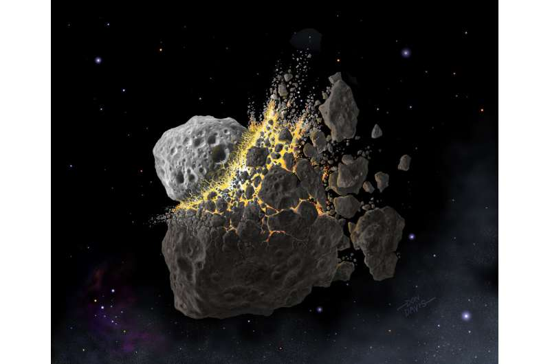 Ancient double asteroid told about the conflict between