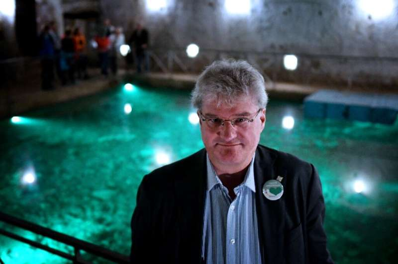 Dutch civil engineer Han Admiraal in the cavernous Bourbon Tunnel dug deep under Naples