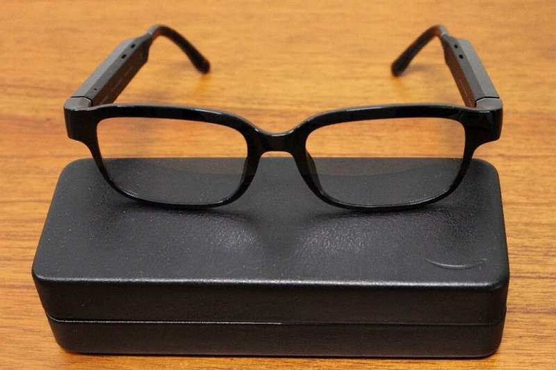 Echo Frames eyeglass frames infused with voice-commanded digital assistant Alexa are pictured at at Amazon's headquarters in Sea