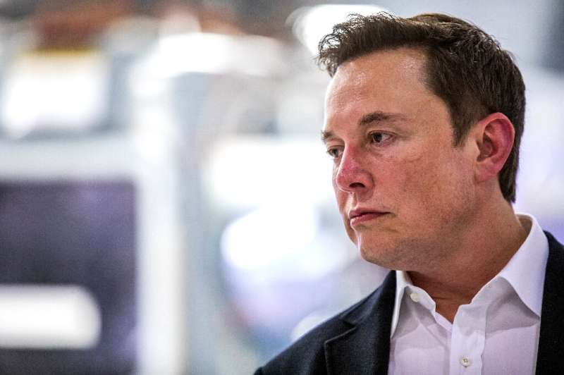 """Elon Musk, pictured on October 10, posted on Twitter that he is """"going offline"""""""
