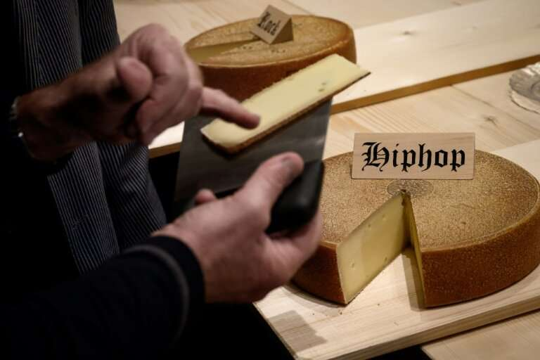 """Emmental matured with hip hop music triggered a """"softer, more floral"""" taste, one jury member said"""