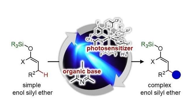 Enabling selective carbon-carbon bond formation at the inherently inert position of enol silyl ethers