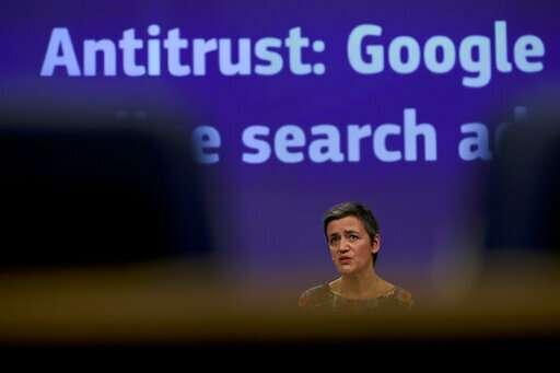 Europe fines Google $1.7 billion in antitrust case