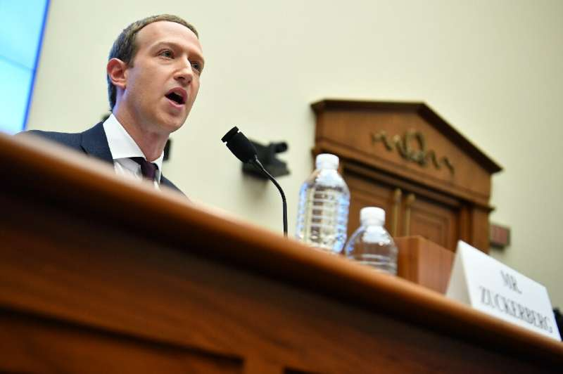 Facebook Chairman and CEO Mark Zuckerberg testifies before the House Financial Services Committee on Wednesday