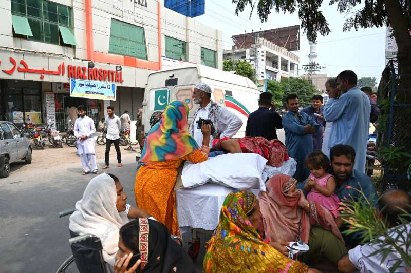 Fears of the fallout from another powerful tremor sent hundreds into the streets and put local hospitals on alert