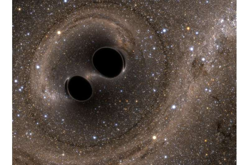 First 'overtones' heard in the ringing of a black hole
