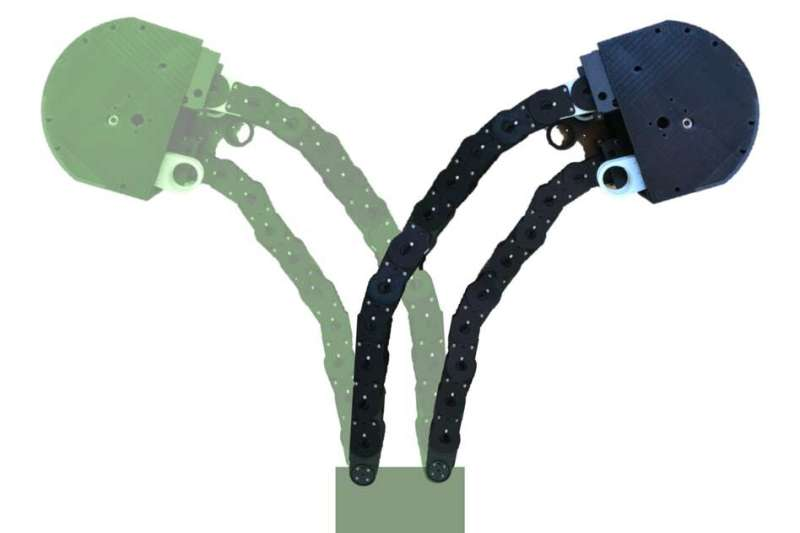 Flexible yet sturdy robot is designed to 'grow' like a plant