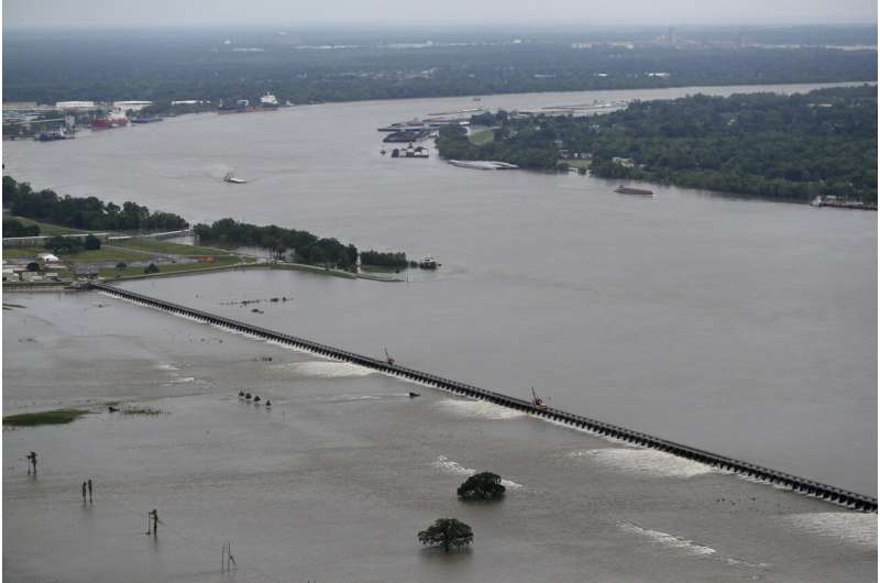 Flooded Mississippi a threat as hurricane season heats up