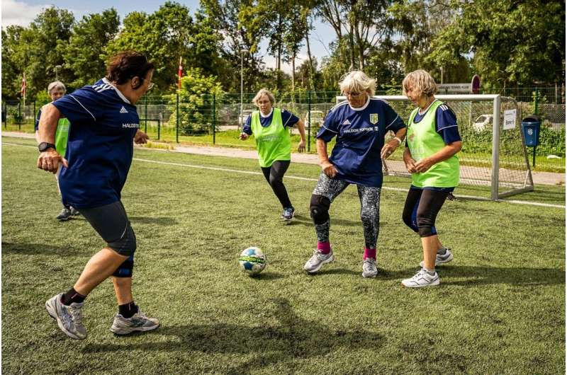 Football scores a health hat-trick for 55-70-year-old women with prediabetes