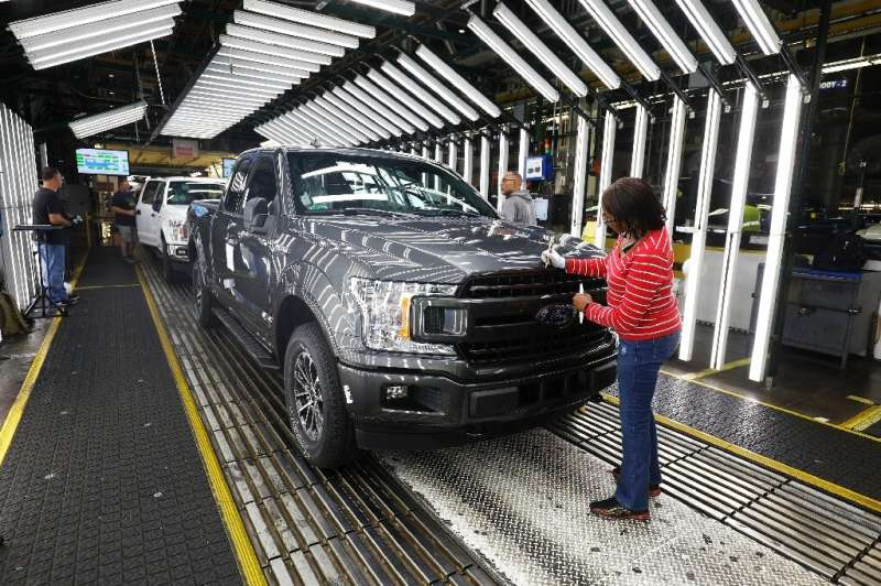Ford's Dearborn, Michigan plant, shown here in September 2018, produces F-series pickup trucks, which sold well in North America
