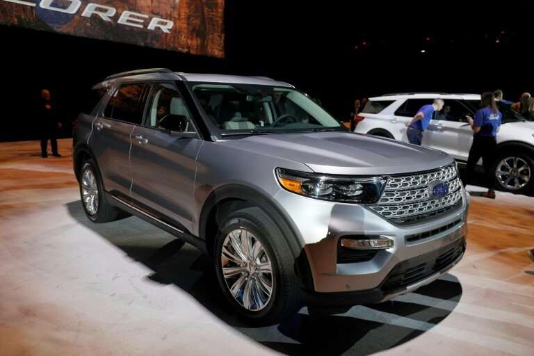 Ford's redesigned Explorer SUV is on public display for the first time at the Detroit auto show