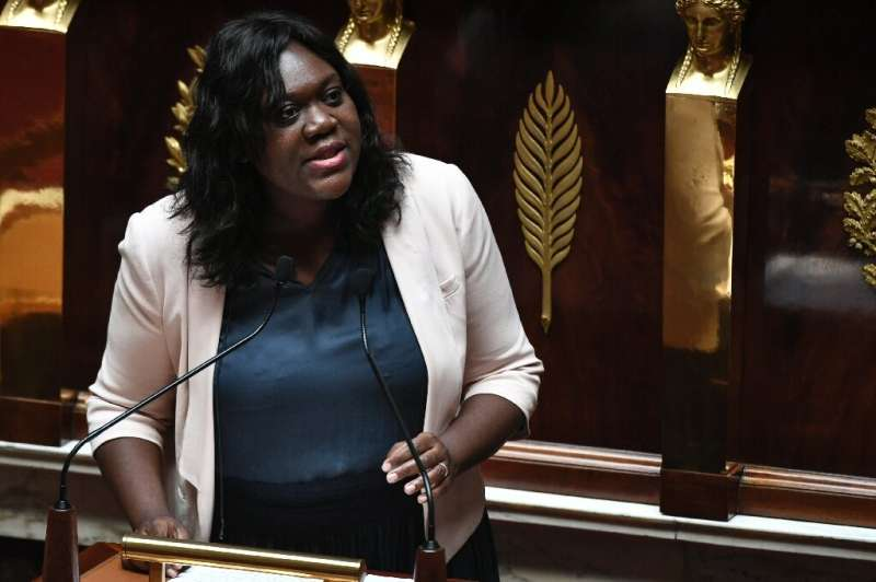 French Member of Parliament of the La Republique En Marche party Laetitia Avia speaks during a session at the French National As