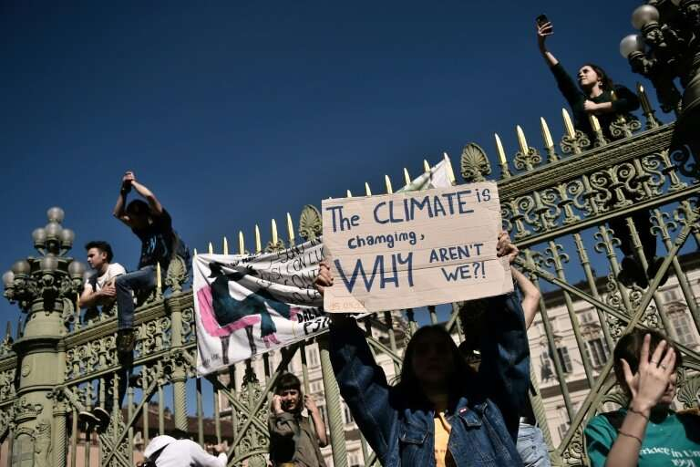 From Turin to Nairobi, school children and teenagers skipped school to demand urgent action on climate