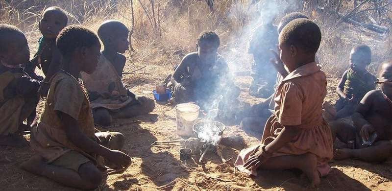 Gendered play in hunter-gatherer children strongly influenced by community demographics
