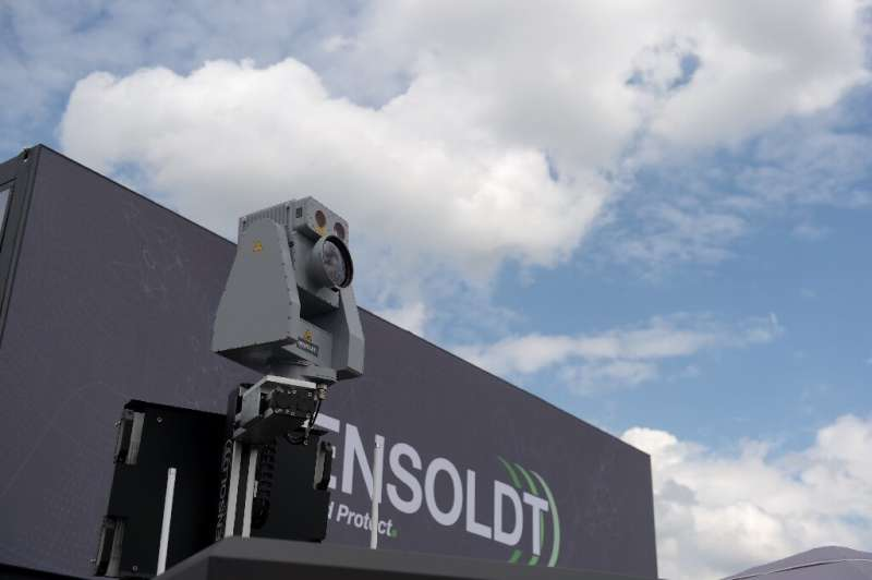 German firm Hensoldt's anti-drone system is displayed at the Paris Air Show this week