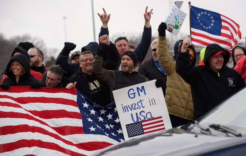 GM Lordstown workers protested the decision to close the plant