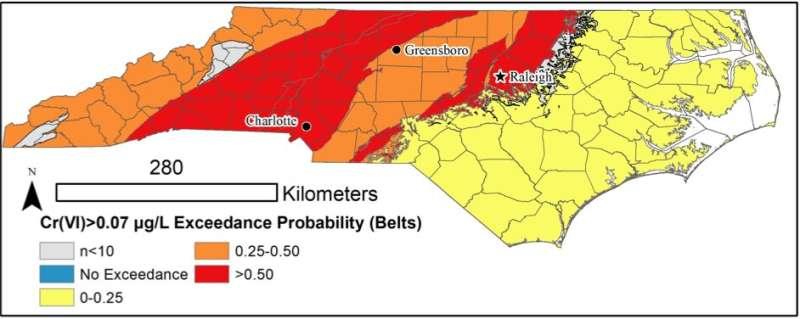 Half of Piedmont drinking wells may exceed NC's hexavalent chromium standards