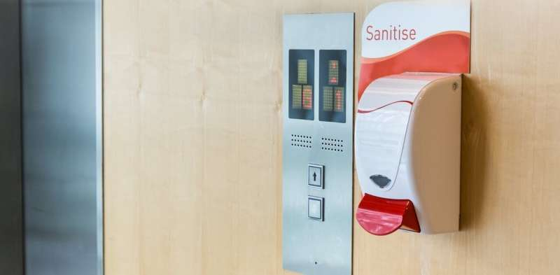 Hand sanitisers in public won't wipe out the flu but they might reduce its spread