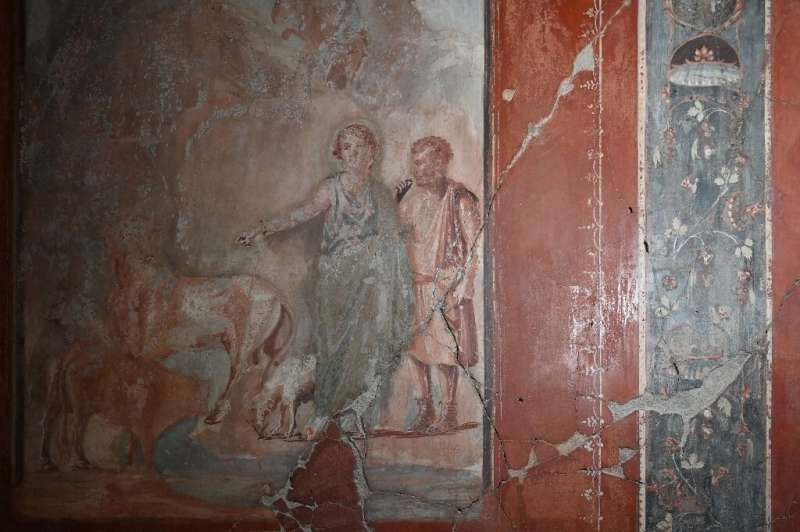 Herculaneum is much better preserved than its neighbour Pompeii
