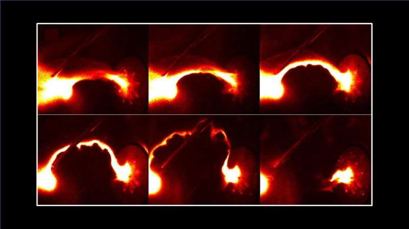 High-energy X-ray bursts from low-energy plasma