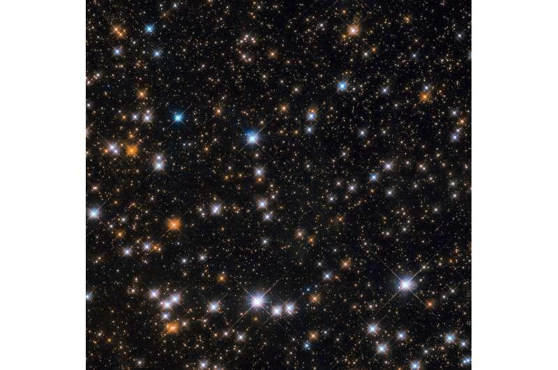 Hubble spots flock of cosmic ducks
