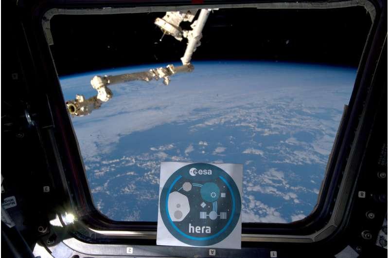 Image: Hera logo aboard ISS