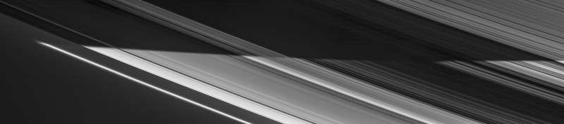 Image: Night into day on Saturn's rings