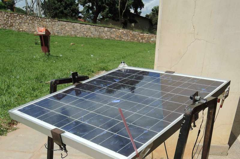 Improving solar cell efficiency with a bucket of water