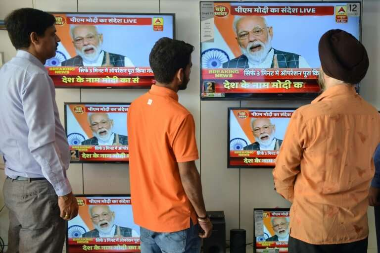 India's downing of a satellite was broadcast live across the country