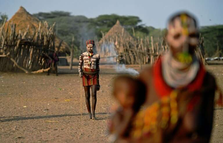 Indigenous communities using bodypaint include the Karo tribe in Ethiopia's southern Omo Valley region