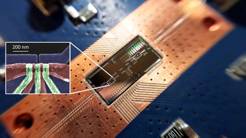 In leap for quantum computing, silicon quantum bits establish a long-distance relationship