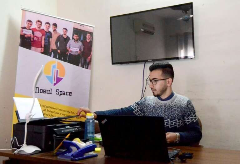 """Iraqi youth are also participating in the """"Mosul Space"""",  that city's incubator for would-be entrepreneurs in northern"""