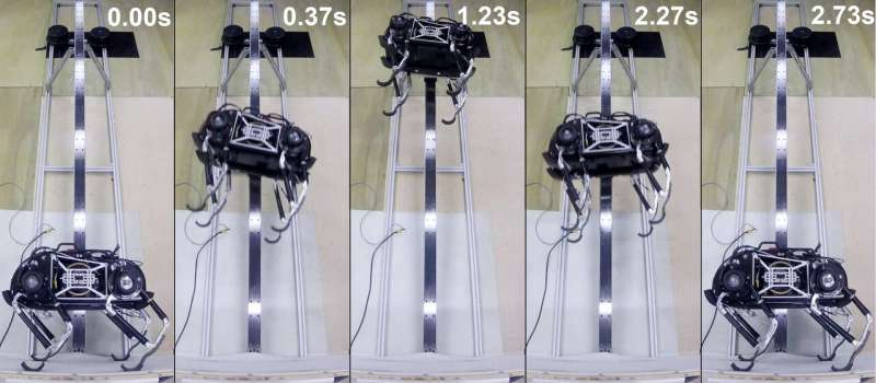 Jumping space robot 'flies' like a spacecraft