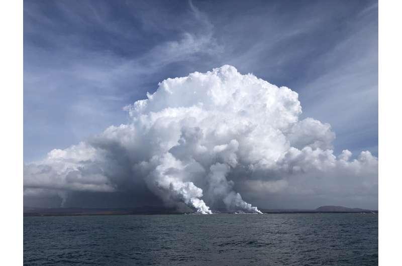 Kīlauea lava fuels phytoplankton bloom off Hawai'i Island